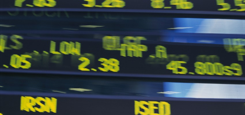 Close-up of Electronic Stock Ticker